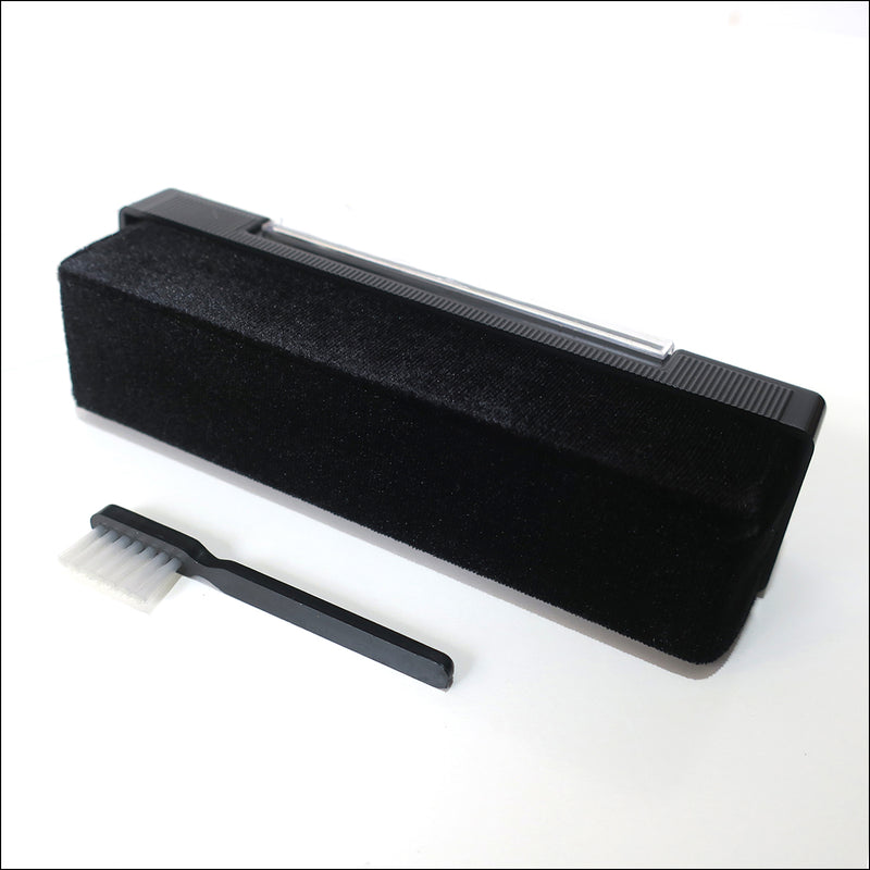 Dust Removal: Velvet Pad Record Cleaner + Stylus Brush