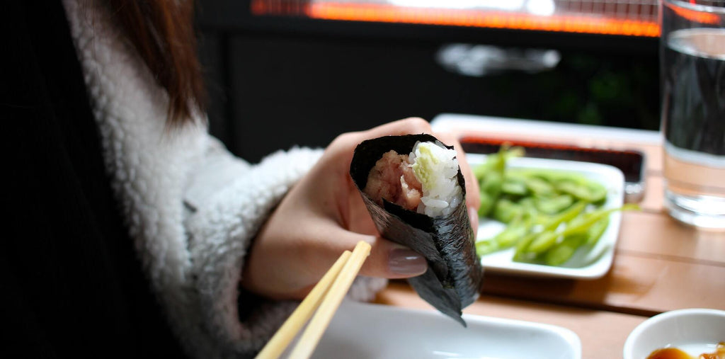 Nori wraps is a healthy and quick morning snack option