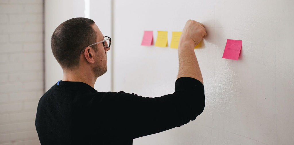 A man working after taking brain-boosting supplements