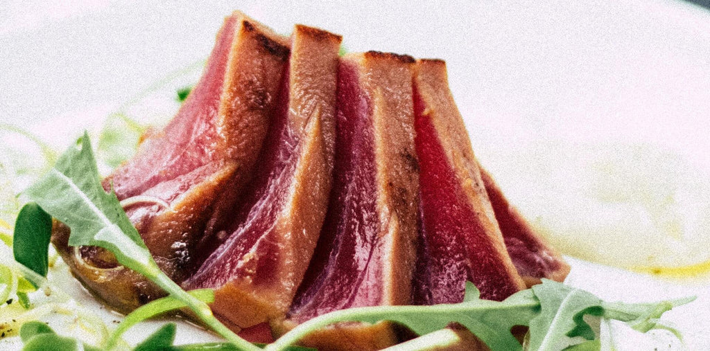 Tuna slices as a perfect protein-rich meal