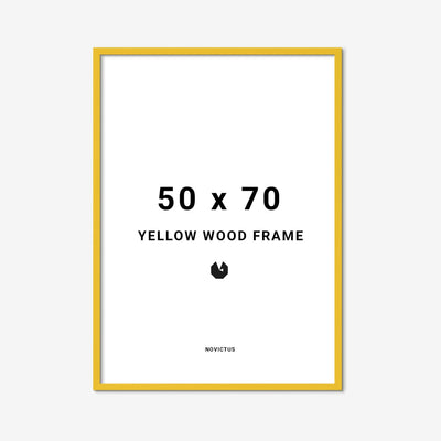 Yellow-frame-gul-ramme-50-70-wood-FindersKeepers