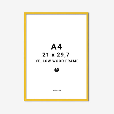 Yellow-frame-gul-ramme-a4-FindersKeepers