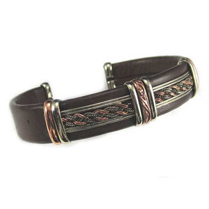Large Brown Leather Bracelets