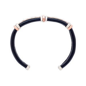 Leather Bracelet BR.ULB.0105 - Handcrafted by HPSilver, LLC.