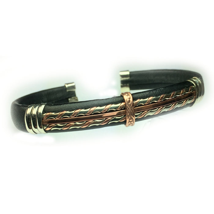 Leather Bracelet, Black - BR.ULB.0135