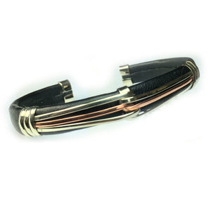 Leather Bracelet BR.ULB.0137 - Handcrafted by HPSilver, LLC.
