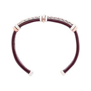 Leather Bracelet BR.ULB.0302 - Brown Leather Cuff Bracelet -Handcrafted by HPSilver, LLC.