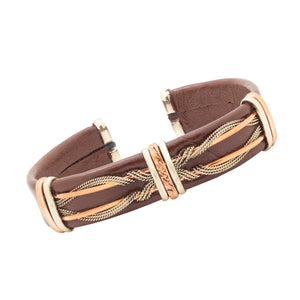 Men's Leather Bracelet, Brown - BR.ULB.0401