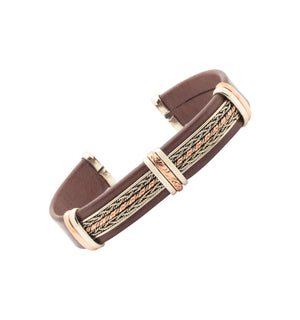 Men's Leather Bracelet, Brown - BR.ULB.0402