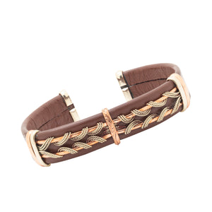 Men's Leather Bracelet, Brown - BR.ULB.0403