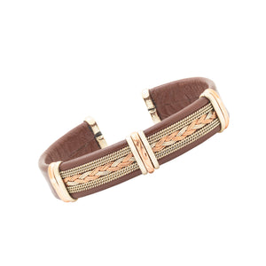 Men's Leather Bracelet, Brown - BR.ULB.0405