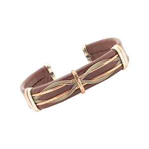 Men's Leather Bracelet, Brown - BR.ULB.0406