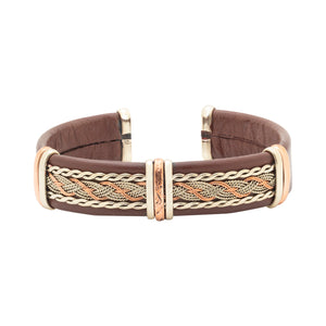 Men's Leather Bracelet, Brown - BR.ULB.0408