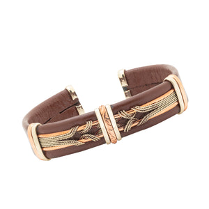 Men's Leather Bracelet, Brown - BR.ULB.0409