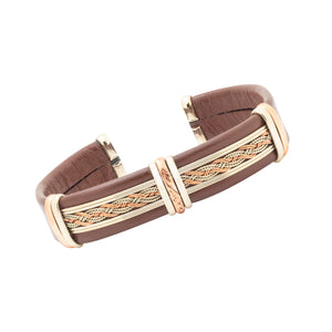 Men's Leather Bracelet, Brown - BR.ULB.0410