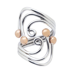 Sterling Silver and Copper Ring - RG.FEL.2011