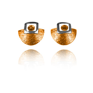 Sterling Silver and Copper Stud Earrings ER.EYA.2011