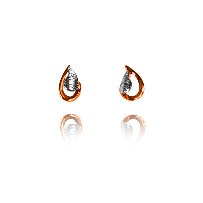 Sterling Silver and Copper Post Earrings - ER.EYA.2013