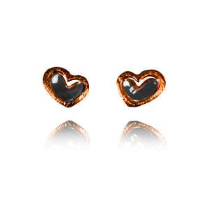 Sterling Silver and Copper Stud Earrings ER.EYA.2015