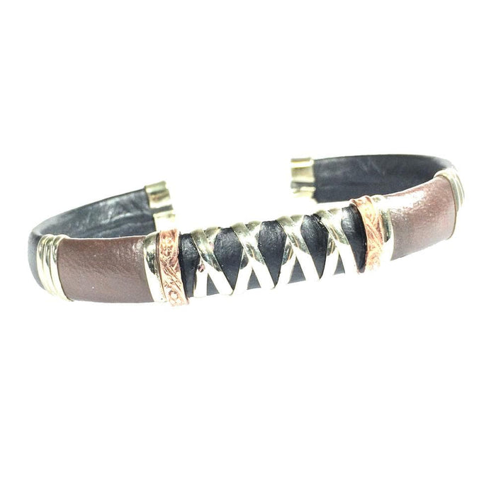 Leather Bracelet, Brown - BR.ULB.1303