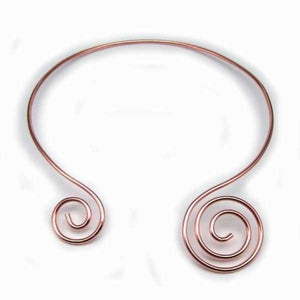 Collars Copper Collar - HPSilver, Copper Double Spiral Collar CL.SOL.4007