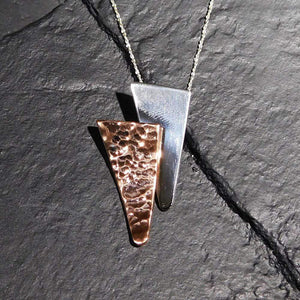 Pendants Sterling Silver Pendant- HPSilver, Sterling Silver and Copper Pendant  PN.EYA.2008