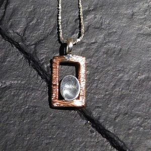 Pendants Sterling Silver Pendant- HPSilver, Sterling Silver and Copper Pendant  PN.EYA.2012