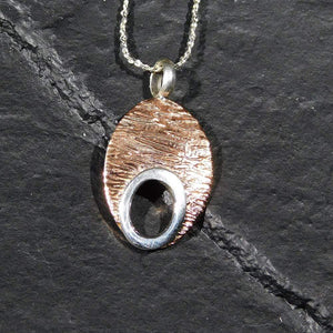Pendants Sterling Silver Pendant- HPSilver, Sterling Silver and Copper Pendant  PN.EYA.2014