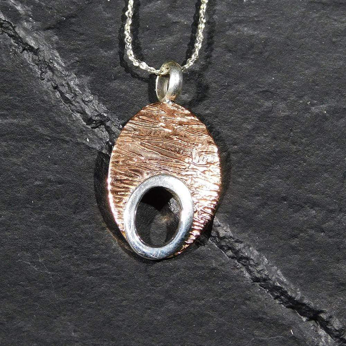 Sterling Silver Pendant, Handcrafted with Silver and Copper - PN.EYA.2014