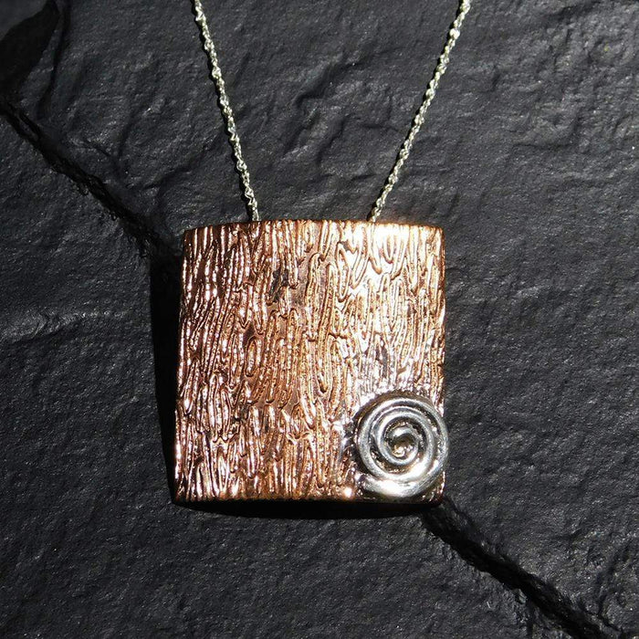 Sterling Silver Pendant, Handcrafted with Silver and Copper - PN.EYA.2017