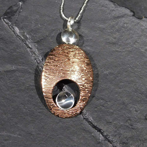 Pendants Sterling Silver Pendant- HPSilver, Sterling Silver and Copper Pendant  PN.EYA.2020