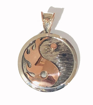 Pendants Sterling Silver Pendant- HPSilver, Sterling Silver and Copper Yin-Yang Pendant  PN.ANG.2130