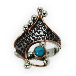 Turquoise Ring, Handcrafted with Sterling Silver - RG.VIC.2033