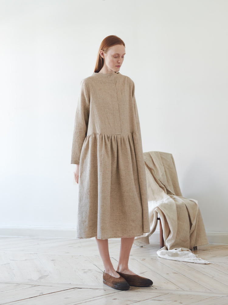 Sand Dress with Raw Hems