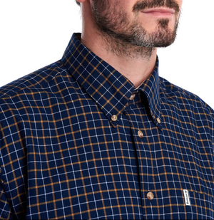 mens barbour checked shirt