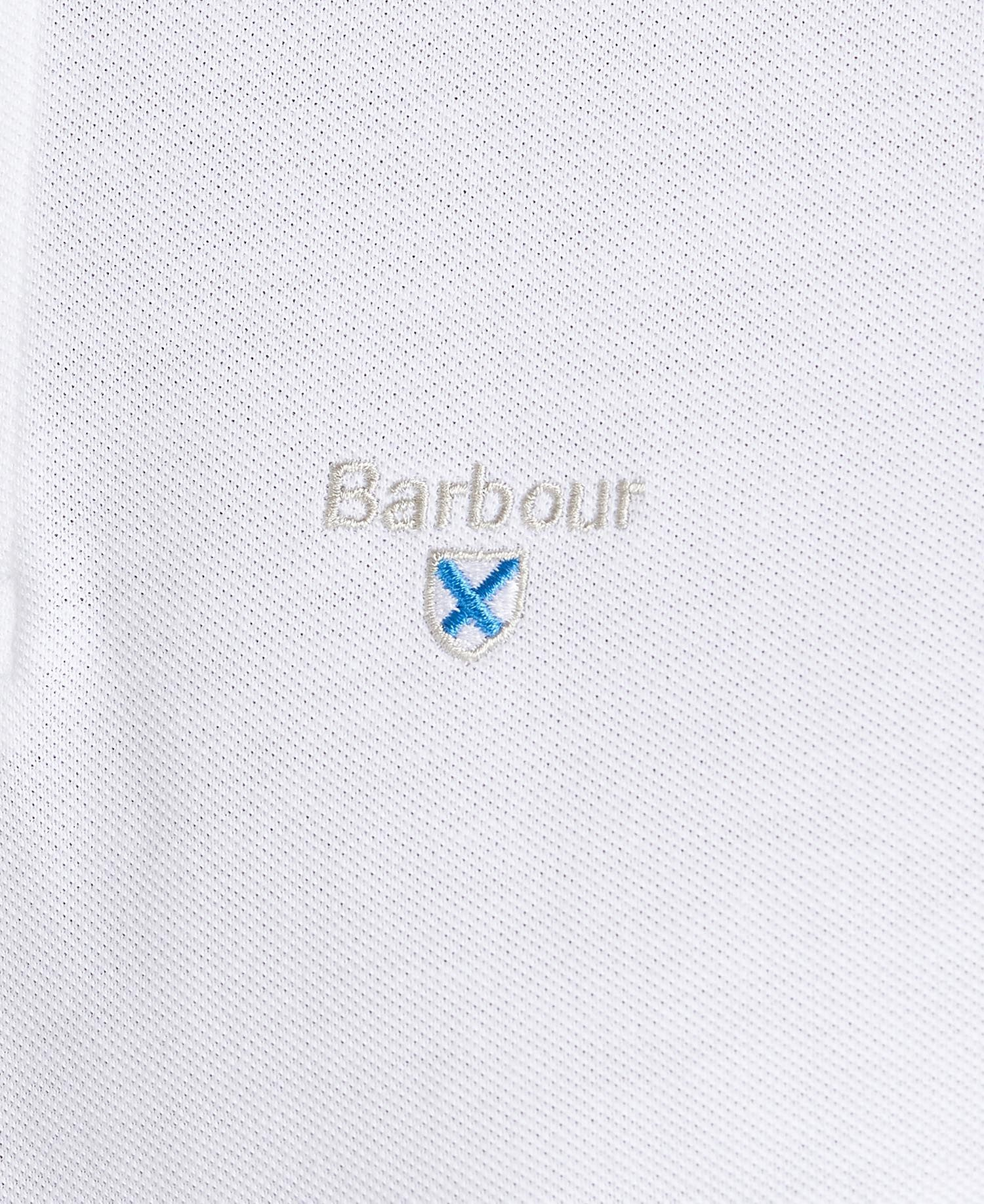 Barbour White Lynton Polo Shirt