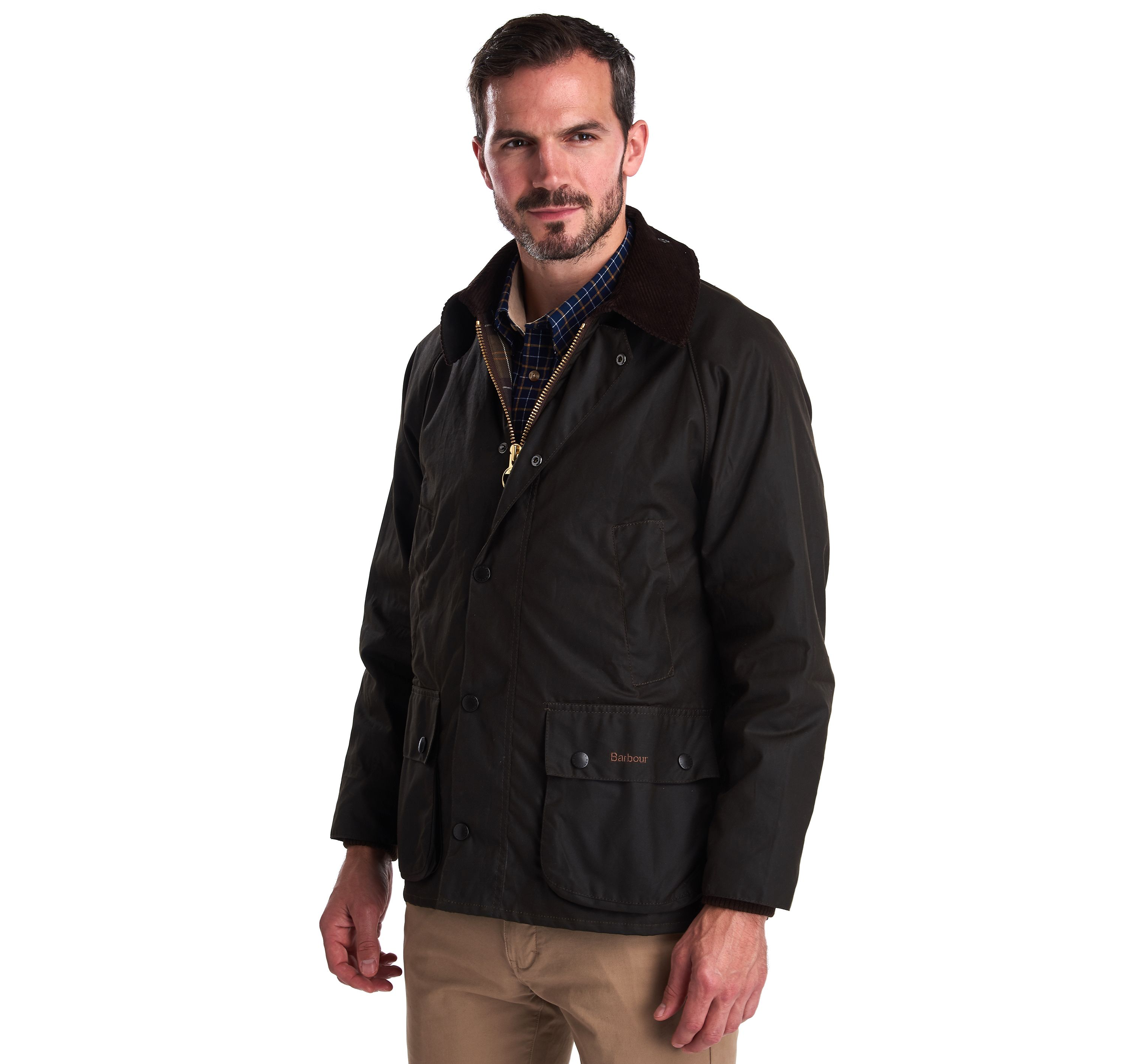 Barbour Olive Bedale® Wax Jacket