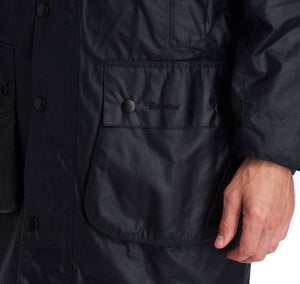 Barbour Navy Border® Waxed Cotton Jacket