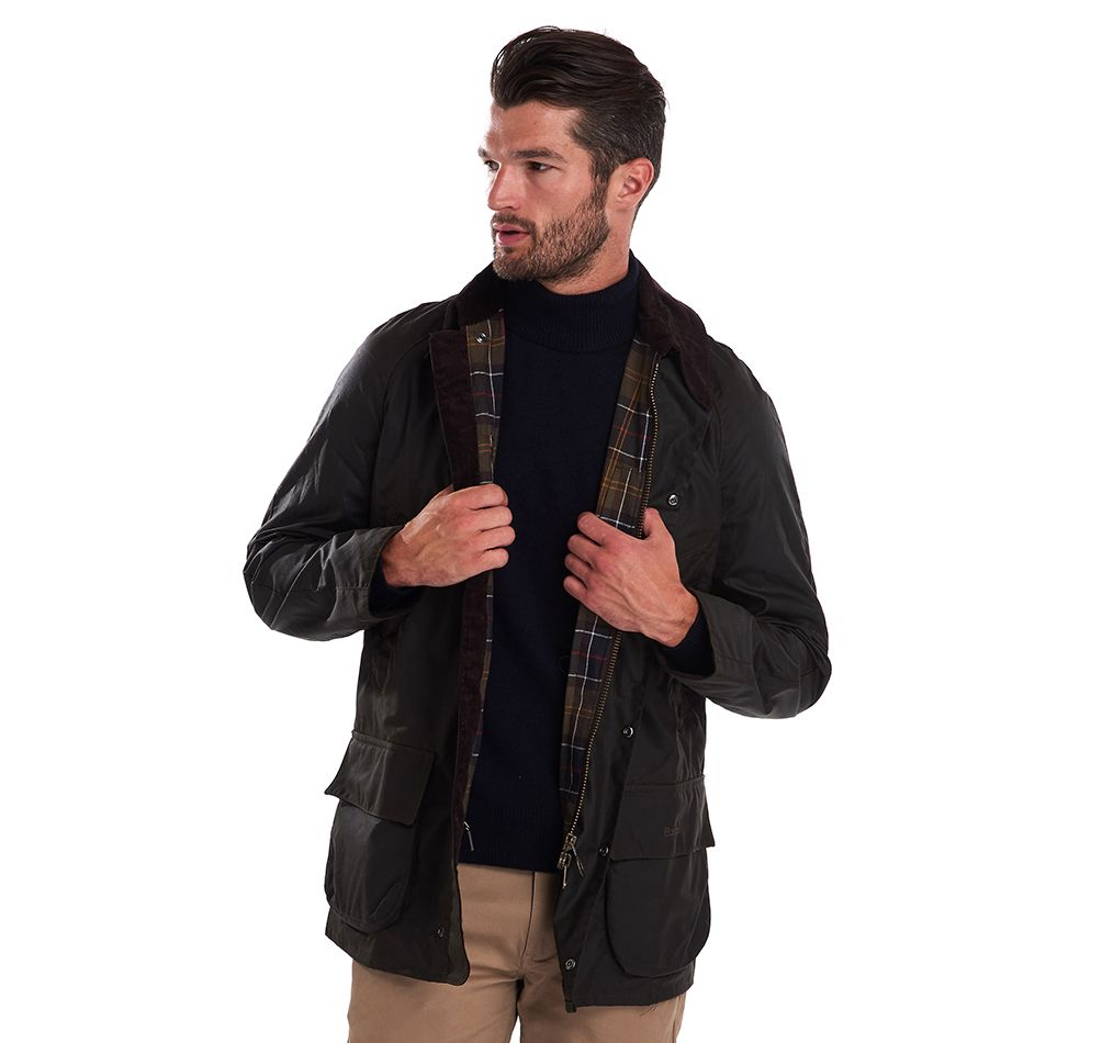 Barbour Olive Bristol Waxed Cotton Jacket