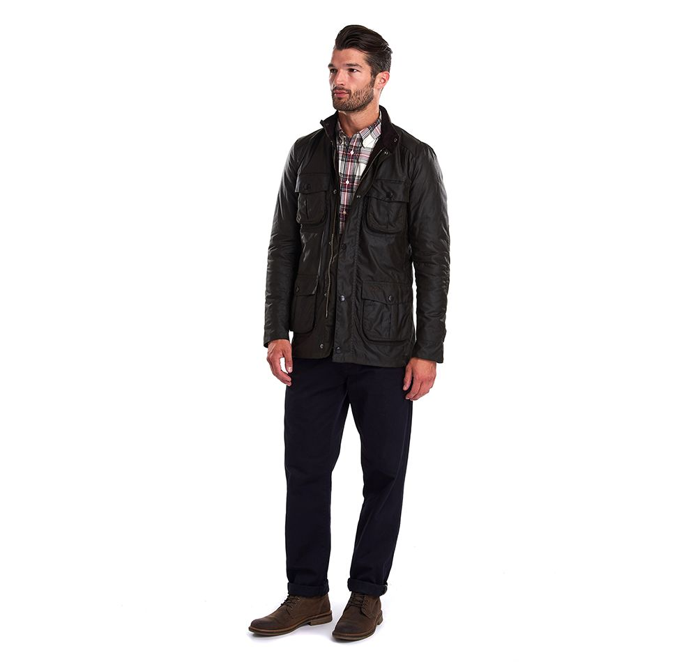 Barbour Olive Corbridge Wax Jacket