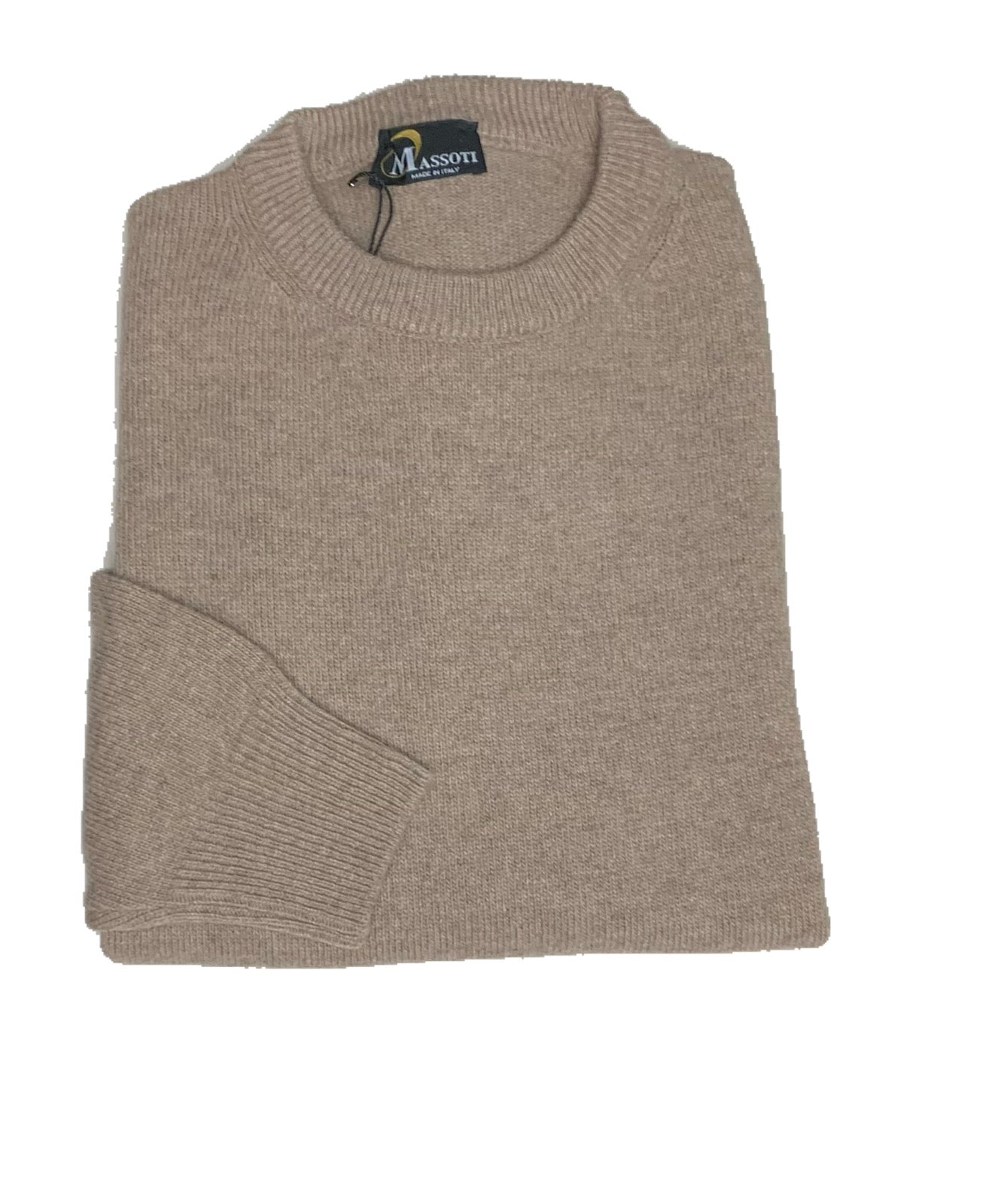 Massotti Sweater - Crew or V-neck - Relaxed Fit - Greens, Browns and Blues