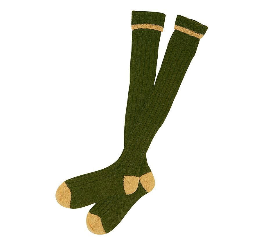 Olive/Gold Barbour Contrast Gun Stockings