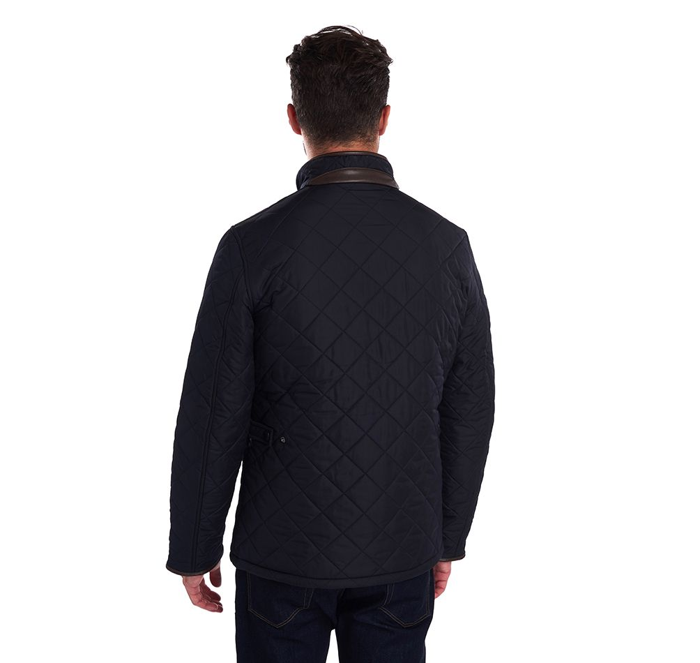 Barbour Navy Powell Quilted Jacket