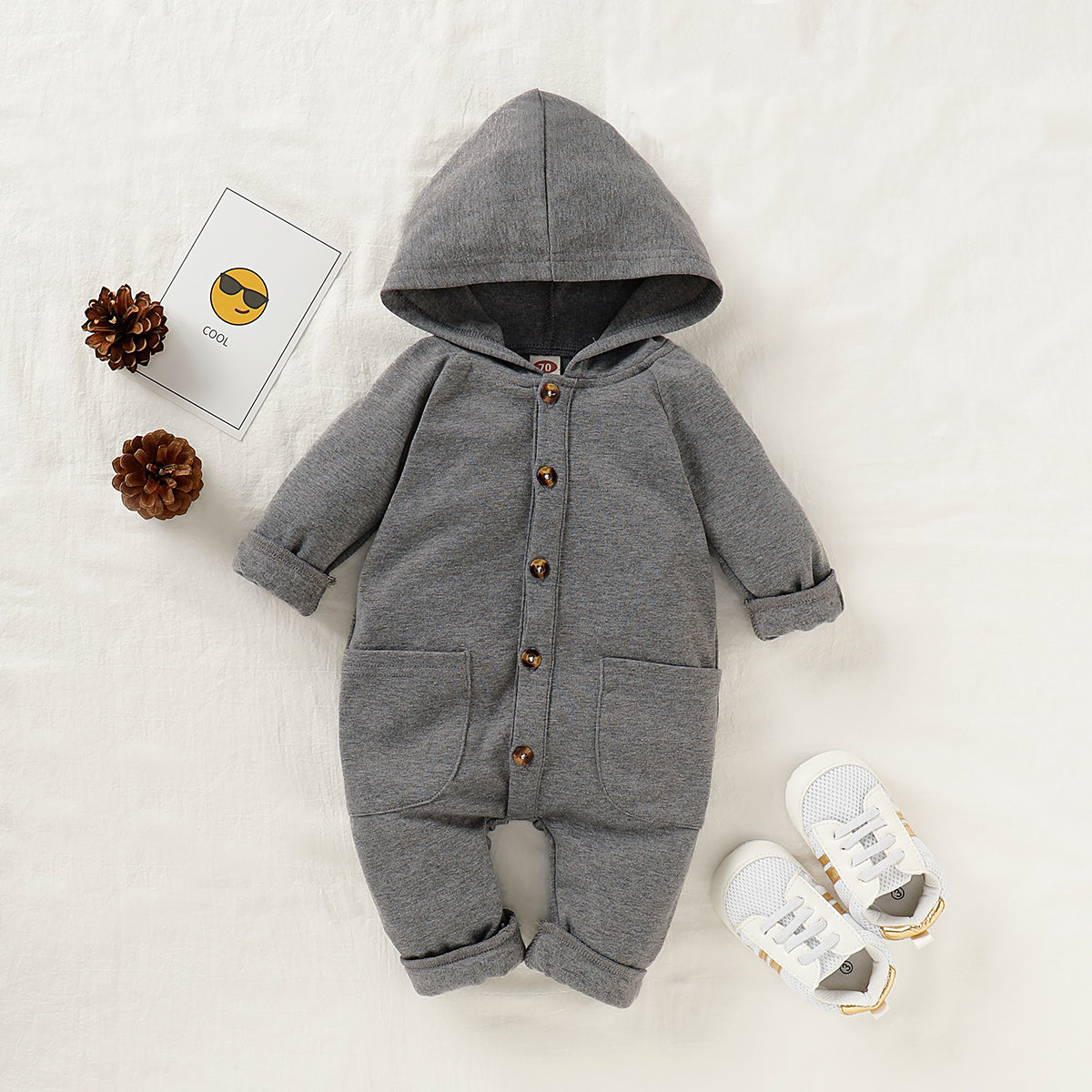 Hooded Jumpsuit with Pockets