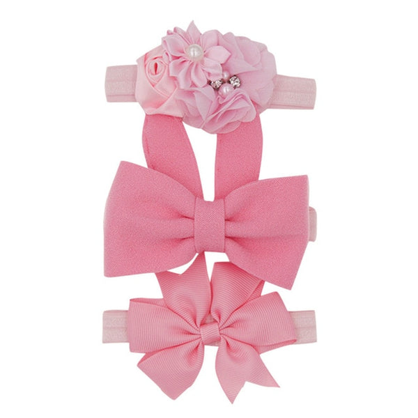 Pink 3 piece bow
