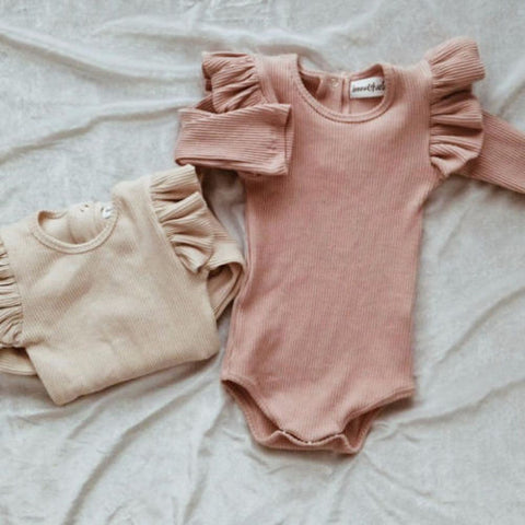 Baby Girl Rompers with Frills