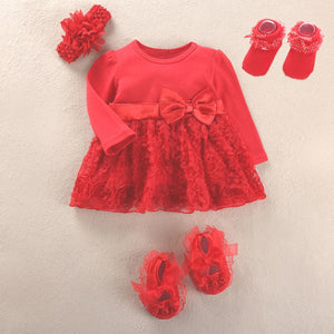 Stunning Baby Girl Dress + Shoes