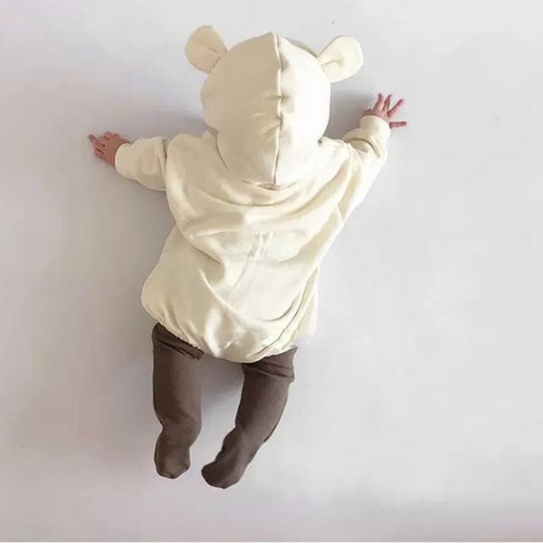 Long Sleeve Hooded Jumpsuits with Bear Ears