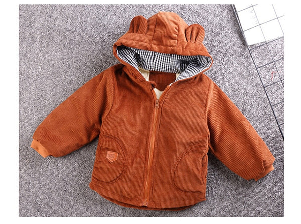 Warm Jacket with cute bear Ears