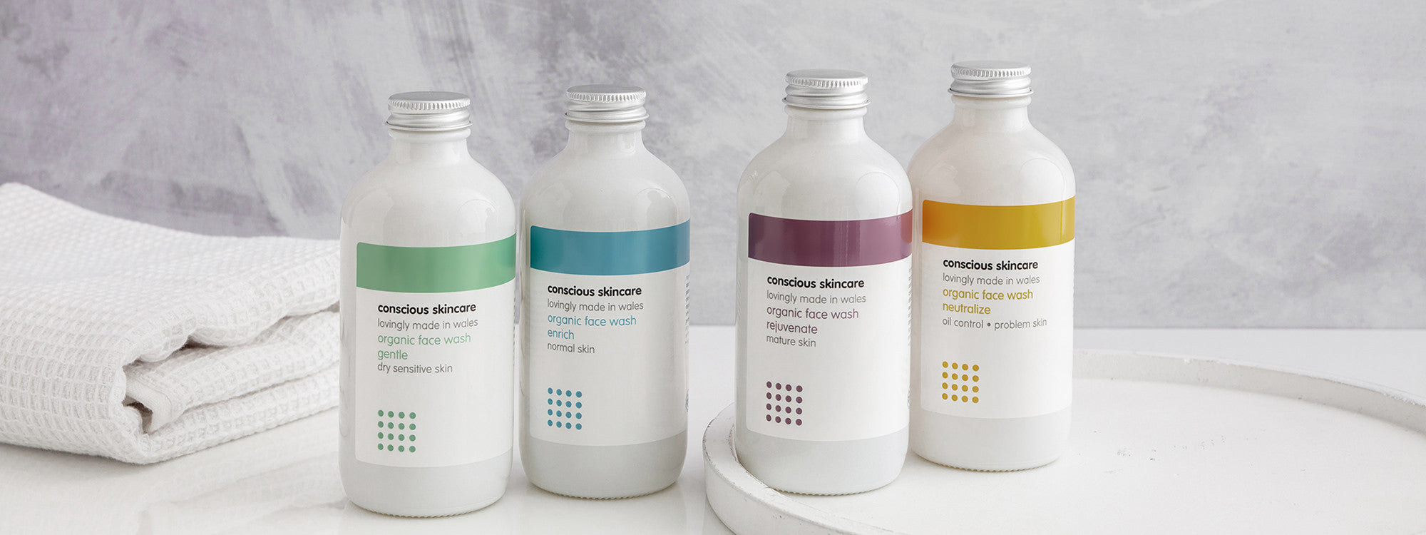 Conscious Skincare Face Range is available to suit different skin types